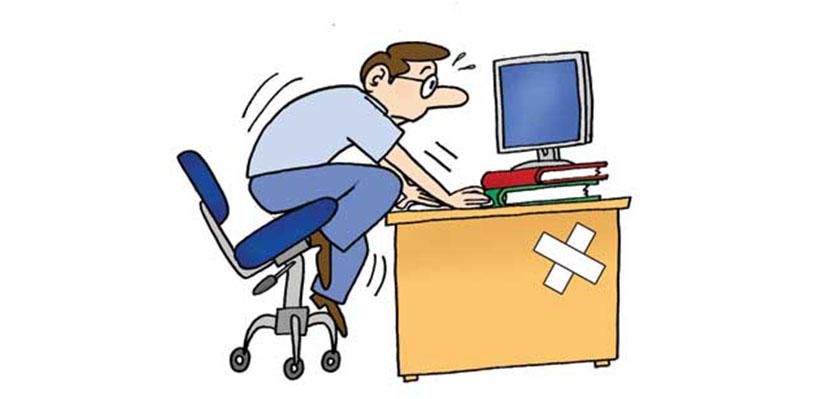 Ergonomia no posto de trabalho e learning higiene e for Escritorio ergonomico